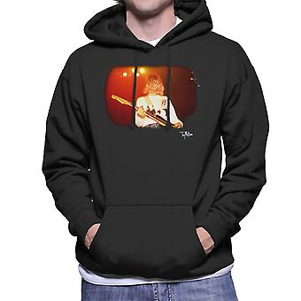 Kurt Cobain Playing Live Guitar Men's Hooded Sweatshirt