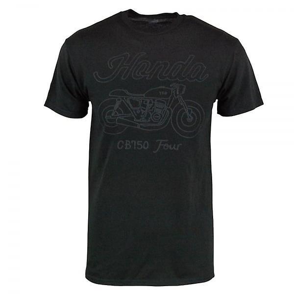 Honda Mens Retro Honda CB 750 Four T Shirt Black
