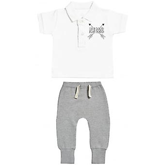 Spoilt Rotten Live Loud Baby Polo T-Shirt & Baby Joggers Outfit Set