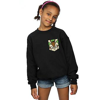Looney Tunes filles Wile E Coyote Face fausse poche Sweatshirt
