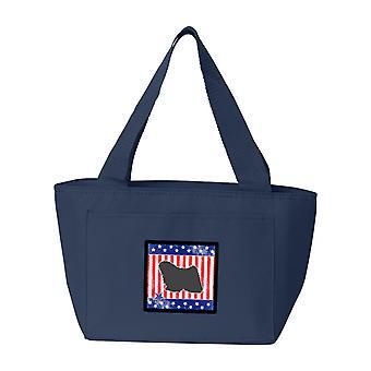 Carolines tesoros BB3363NA-8808 USA patriótico Puli almuerzo bolsa