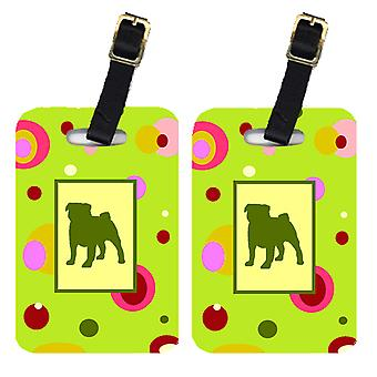 Carolines Treasures  CK1053BT Pair of 2 Pug Luggage Tags
