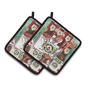 Dixie Beer and Crawfish New Orleans Pair of Pot Holders