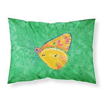 Butterfly Orange on Green Moisture wicking Fabric standard pillowcase