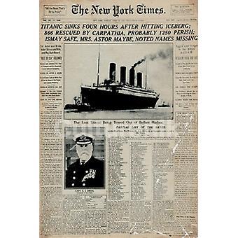 Titanic Zeitung Poster Plakat-Druck