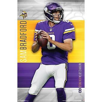 Minnesota Vikings - Sam Bradford Poster Print