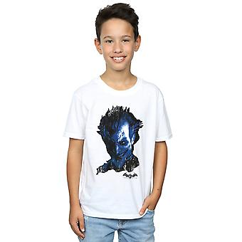 DC كاريكاتير الأولاد باتمان Arkham اللجوء جوكر الوجه الاستغاثة تي شيرت
