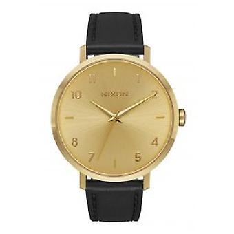 Nixon The Arrow Leather All Gold / Black (A1091-510)