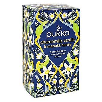 Pukka Organik Papatya, Vanilya ve Manuka Bal Bitkisel Çay