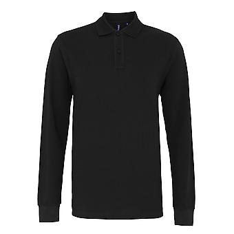 Asquith & Fox Mens Classic Fit Langarm Polo-Shirt