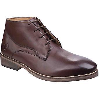 Cotswold Mens Maugesbury renda acima do couro Oxford Casual tornozelo botas