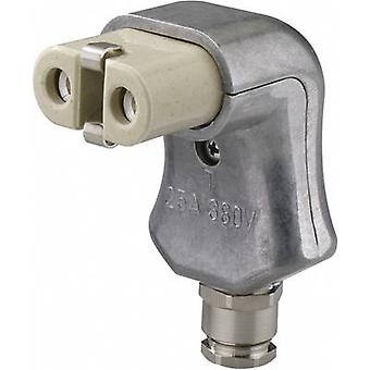 Kalthoff 344K/A/PGWi Hot wire connector 344 Series (mains connectors) 344 Socket, right angle Total number of pins: 2 + PE 16 A Aluminium 1 pc(s)