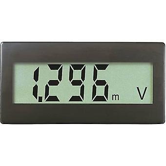 Digital rackmontert meter VOLTCRAFT DVM330G 0 - 199.9 mV (kan utvides ved å legge motstander)