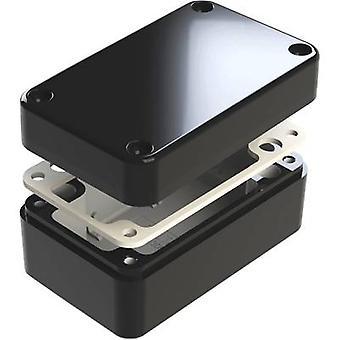Deltron skap 487-130806B Universal kabinett 130 x 80 x 60 Aluminium svart 1 eller flere PCer