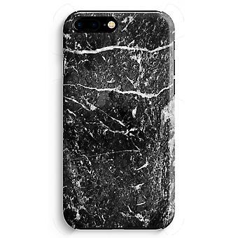 iPhone 8 Plus pełna obudowa głowiczki (błyszcząca) - czarny marmur