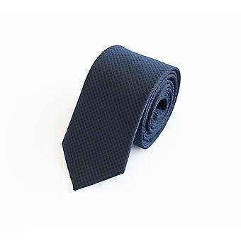 Tie slips tie slips 6cm svart blå rutig Fabio Farini