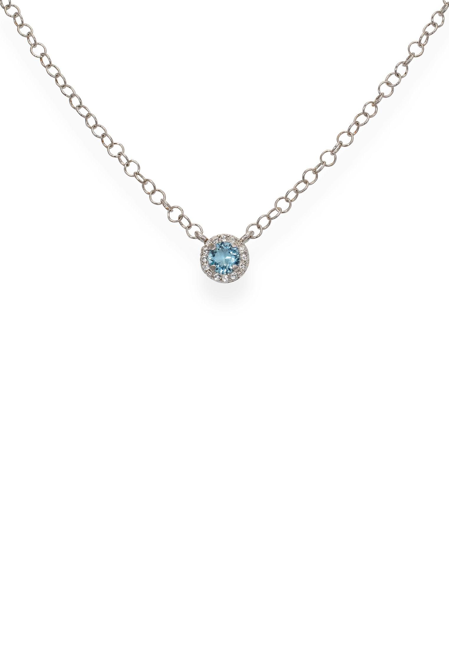 Blue pendant with crystals from Swarovski 9264