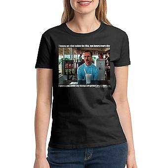 Napoleon Dynamite Serious Women's Black T-shirt