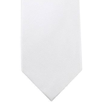 Knightsbridge Neckwear ren Diagonal ribbet uavgjort - hvit