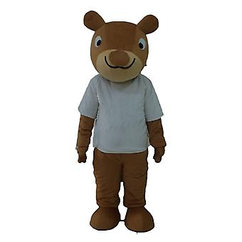 mascot squirrel Brown, smiling, with a white t-shirt SPOTSOUND