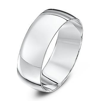 Anneaux de mariage Star 18 carats or blanc lumière D 7mm bague de mariage