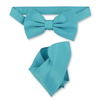 Везувио Наполи BowTie твердый мужской галстук & платок
