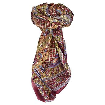 Mulberry Silk Traditional Square Scarf Vaan Rose by Pashmina & Silk