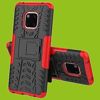 For Huawei mate 20 hybrid sag 2 stykke SWL udendørs rød taske tilfælde dække beskyttelse