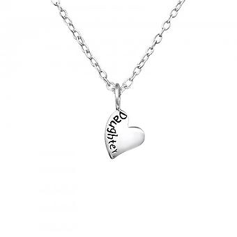 Girls 925 sterling silver daughter heart necklace