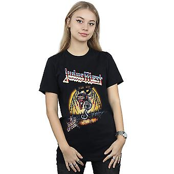 Judas Priest Women's Touch Of Evil Boyfriend Fit T-Shirt