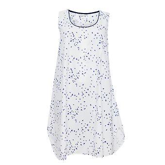 Cyberjammies 1266 Frauen Nora Rose Adele White Bird Print Nacht Kleid Loungewear Nachthemd