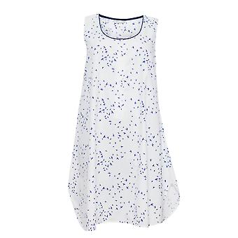 Cyberjammies 1266 kvinnors Nora Rose Adele vit fågel Print natt klänning Loungewear nattlinne