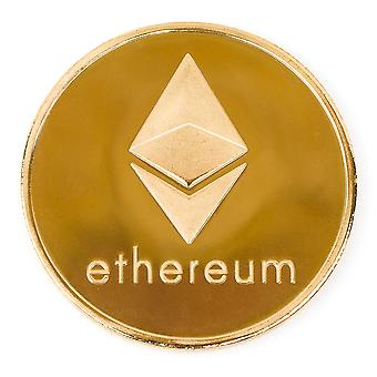 Desafío de Etereum moneda 24k oro plateado bueno suerte recuerdo o marcador de pelota de Golf