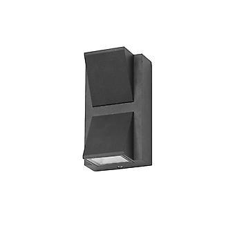 Forlight - Loyd negro LED exterior pared luminaria PX-0396-NEG