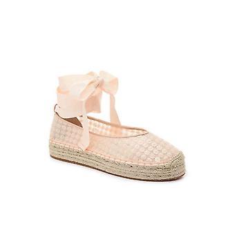 Avec Les Filles Womens Georgie Closed Toe Ankle Wrap Espadrille Flats