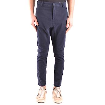 Daniele Alessandrini Ezbc107209 Men's Blue Cotton Pants