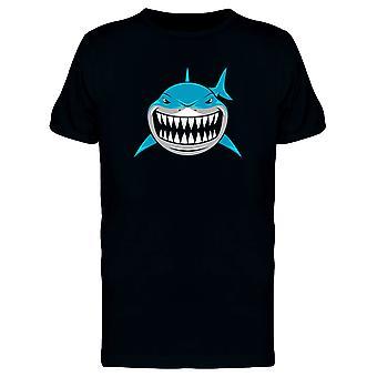 Blue Shark Showing Teeth Tee Men's -Image by Shutterstock