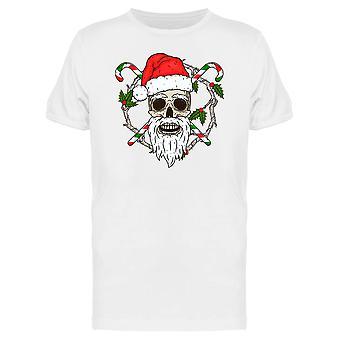 Le crâne du père Noël Tee homme-Image de Shutterstock