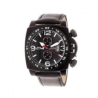 A 1 .5 -Carbon 14- Quartz Chronograph - Black Leather