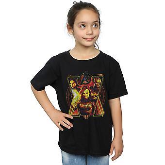 Marvel Mädchen Avengers Endspiel Distressed T-Shirt Sunburst