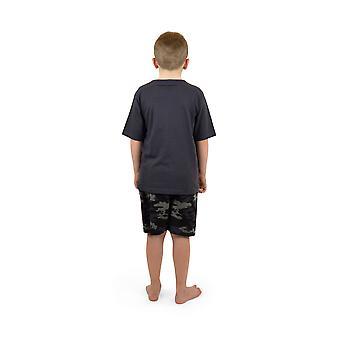 Socks Uwear Boys Cotton V-Neck Camo Short Nightwear Pyjamas