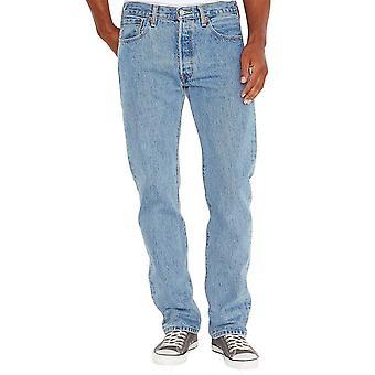 501 Original de Levi's cabe los pantalones vaqueros rotos luz en azul