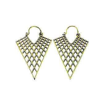 Avery and May Handmade Triangular Filigree Honeycomb Earrings for Women
