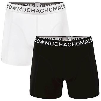 Muchachomalo Basic 2-pakkaus bokserit-musta/valkoinen