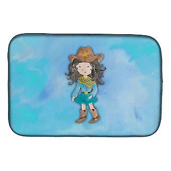 Carolines skatter BB7367DDM cowgirl akvarell oppvask tørking matte