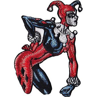 Patch - DC Comics - Harley Quinn Sneer Iron On Licensed p-dc-0127