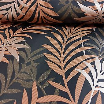 A.S. Creation AS Creazione Palm Leaf Pattern Wallpaper Glitter Motif Moderno rilievo Strutturato 324723