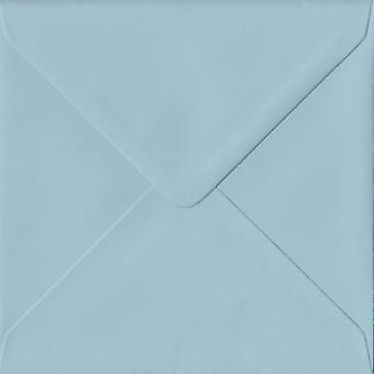 Baby Blue Gummed 130mm Square Coloured Blue Envelopes. 100gsm FSC Sustainable Paper. 130mm x 130mm. Banker Style Envelope.