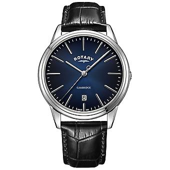 Rotary | Men's Cambridge | Blue Dial | Black Leather Strap | GS05390/05 Watch