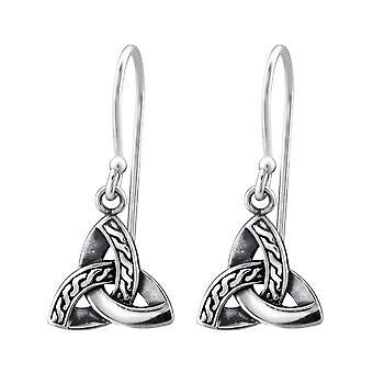 Trinity Knot - 925 Sterling Silver Plain Earrings - W31574X